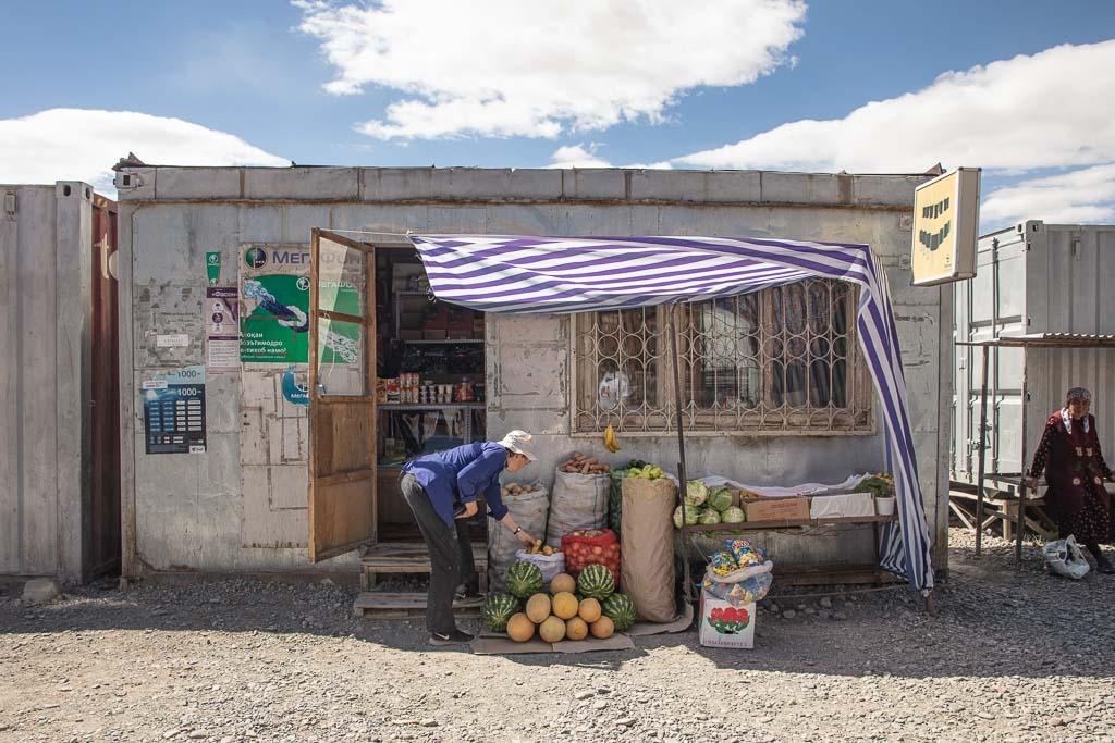 Murghab, Murghab Bazaar, Shipping container Bazaar, Tajikistan, Eastern Pamir