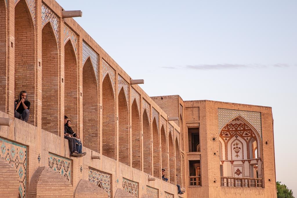Khaju Bridge, Pul e Khaju, Esfahan, Isfahan, Persia, Iran