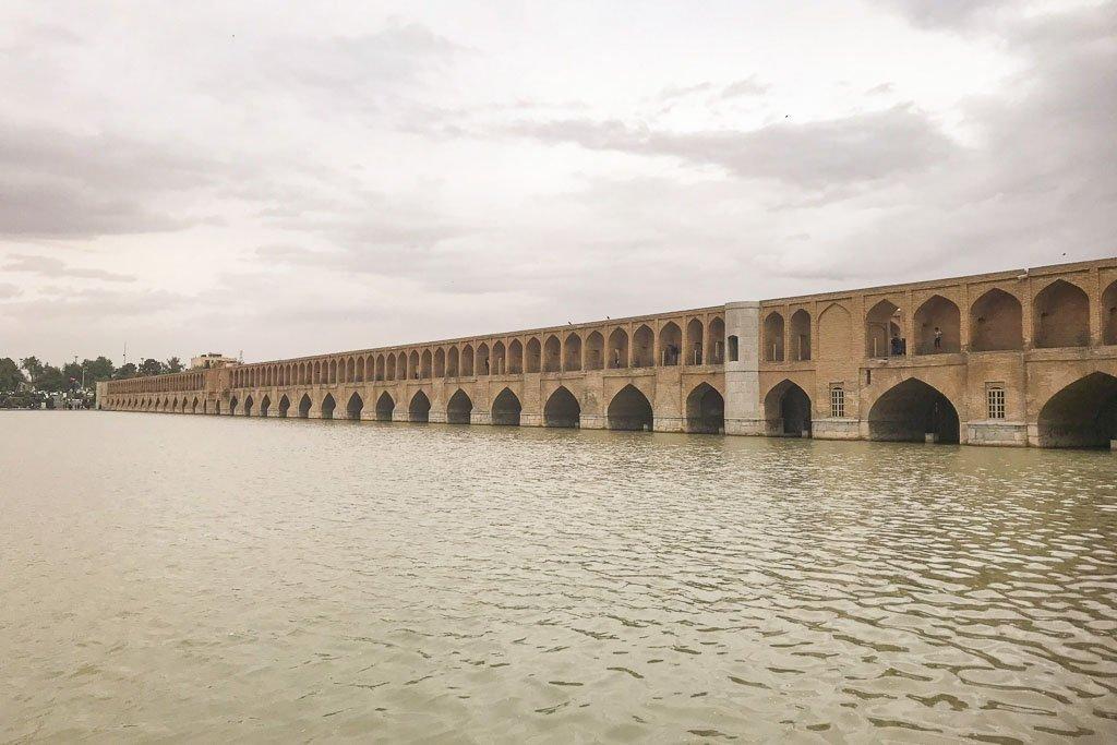Si o se Bridge, Si o se Pul, Esfahan, Isfahan, Persia, Iran
