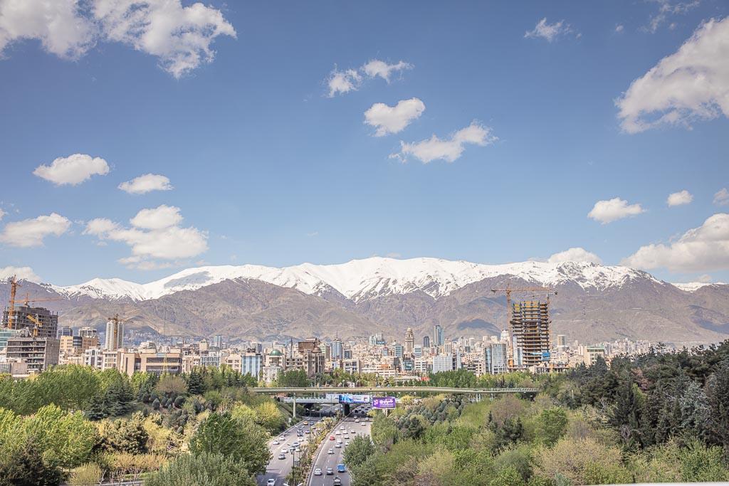 Tabiat Bridge, Talaghani Park, Alborz Mountains, Alborz, Tehran, Iran