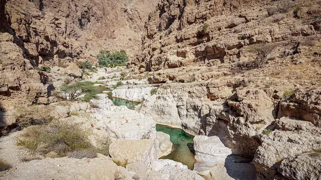 Dan Flying Solo, Wadi Shab Pool