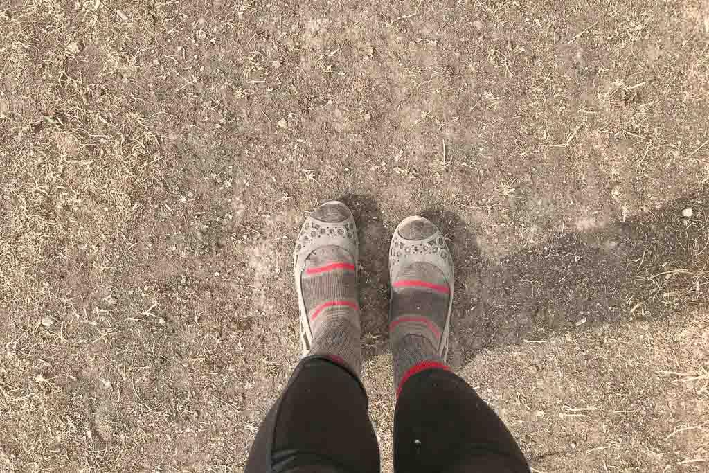 Crocs and socks