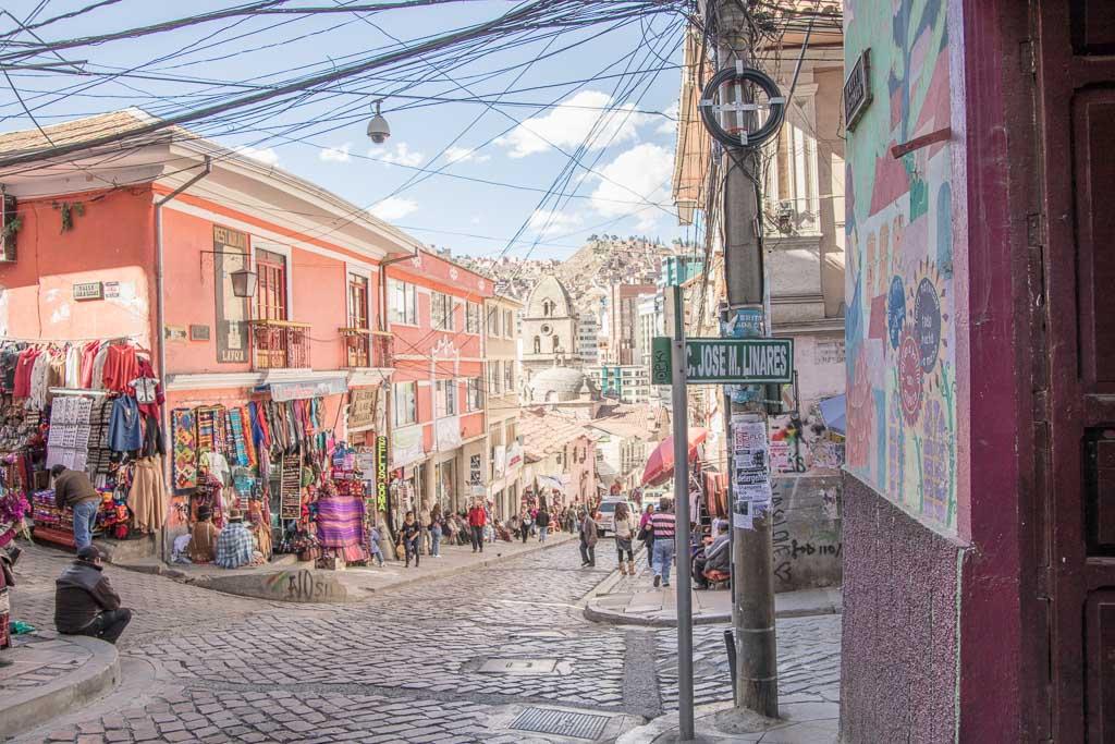 Calle Sagranaga, Sagranada Street, La Paz Bolivia, Bolivia, South America