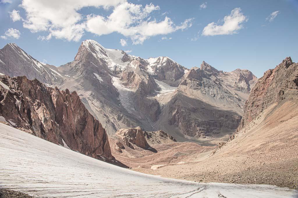 Kaznok Pass, Gora Chimtarga, Fann Mountains, Tajikistan