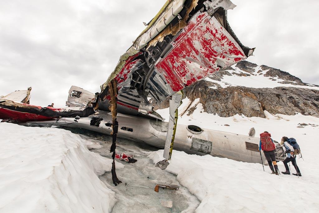Bomber wreck, Bomber wreckage, Bomber glacier, TB-29 Superfortress, TB-29 Superfortress, Bomber Traverse, Hatcher Pass, Alaska, Talkeetna Mountains