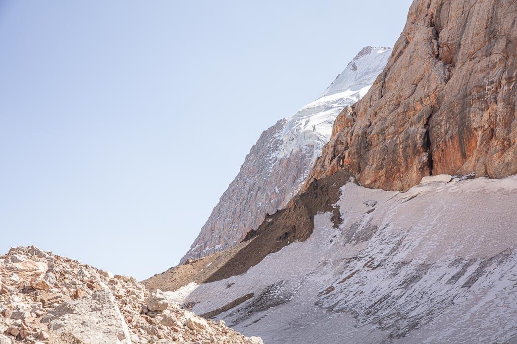 Dukdon Pass, Fann Mountains, Sughd, Tajikistan, Central Asia, Dukdon Glacier