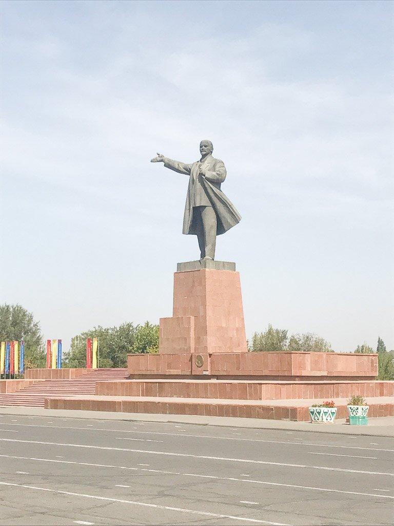 Lenin, Lenin Statue, Lenin Statue Osh, Osh, Kyrgyzstan