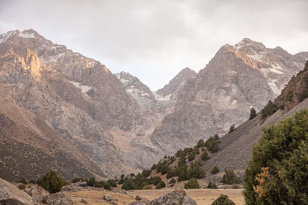 Sarykhodan, Sarykhodan Peak, Sarykhodan Glacier, Sarykhodan River, Dukdon Pass, Fann Mountains, Sughd, Tajikistan, Central Asia