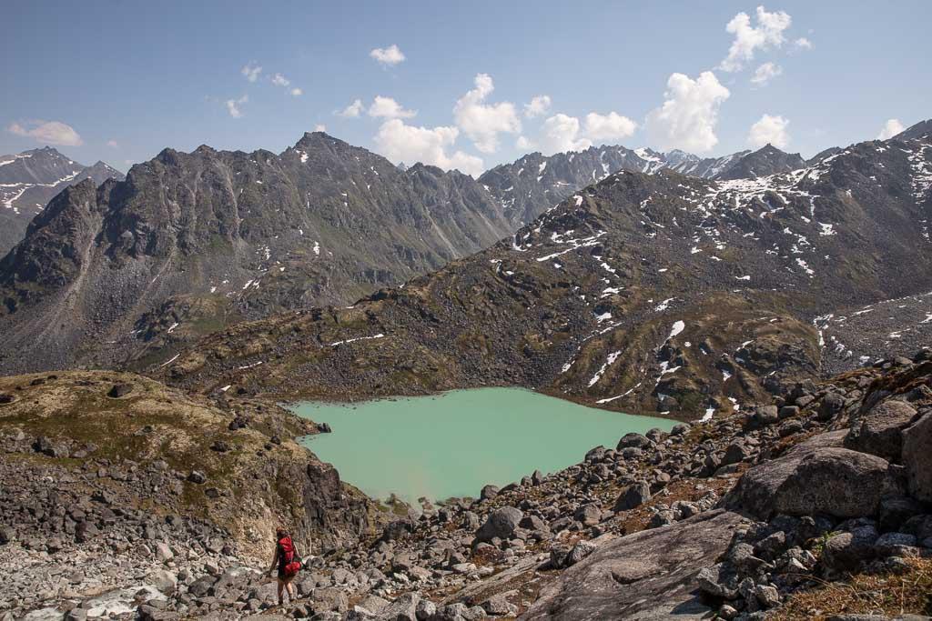 Snowbird Lake, Snowbird-Bomber Hike, Hatcher Pass, Alaska