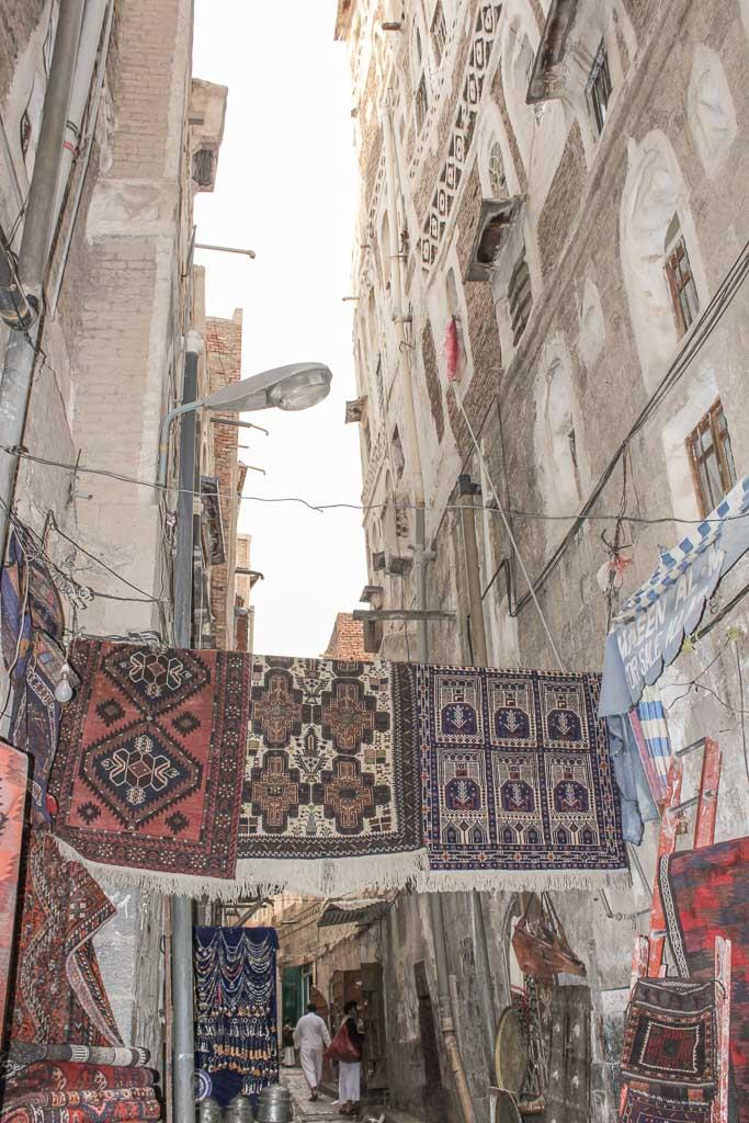Carpet Souk, Carpet Souq, Carpet Souq Sana'a, Old Sana'a, Sana'a, Yemen