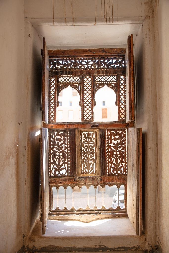 Hadhrami Window, Shibam, Wadi Hadhramaut, Hadhramaut, Yemen