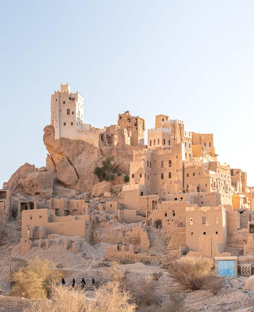Qarn Majid, Wadi Doan, Wadi Dawan, Wadi Da'wan, Hadhramaut, Yemen, Middle East, Husn Fort