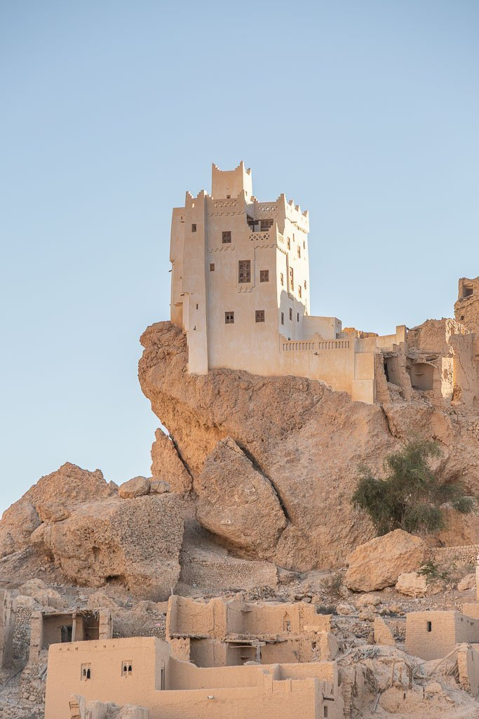 Qarn Majid, Qarn Majid Yemen, Husn Fort, Husn Fort Qarn Majid, mud brick building, Hadhrami mud brick, Wadi Daw'an, Wadi Doan, Wadi Hadhramaut, Hadhramaut, Yemen