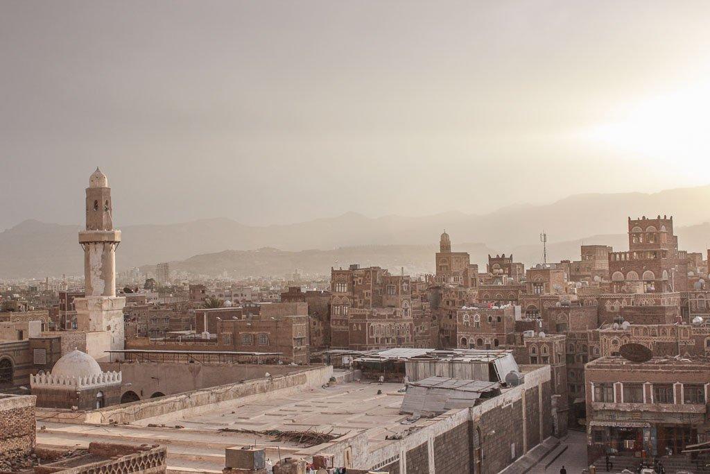 Old Sana'a, Sana'a, Yemen, Sana'a sunset
