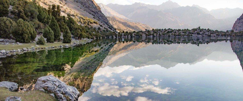 Lake Alovaddin, Alovaddin, Lake Alaudden, Alaudden, Fann Mountains, Sughd, Tajikistan Central Asia