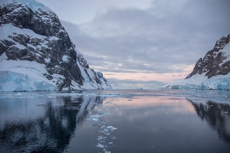 Lemaire Channel, Antarctica, Lemaire sunset, Booth Island, Graham Land