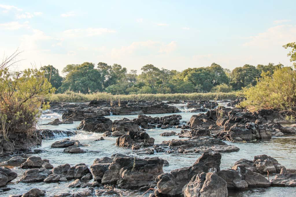 Popa Falls, Okavango River, Mahango Game Reserve, Bwabwata National Park, Caprivi Strip, Namibia